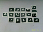 10 - 100 horse themed mini small stencils for etching on glass  Ideal for Fund raising,  hobby craft horses dressage showjumping